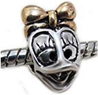 Daisy Duck w/ Bow Donald Pendent Charm Bead Fits EvesErose Pandora Chamilia Biagi Trollbeads European Bracelet Gifts