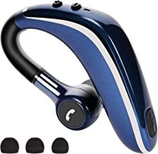 Bluetooth Headset V5.0, Wireless Bluetooth Earpiece Hands-Free Earphones with Noise Cancellation Mic for Driving/Business/Office/Home, Compatible with iPhone and Android Cell Phones