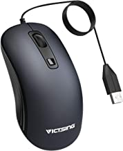 VicTsing USB Wired Mouse [3200 DPI] with 4 Adjustable DPI (3200/2400/1200/800), Computer Mouse Optical Mouse for PC, Laptop, Mac, Desktop (5ft Cord)