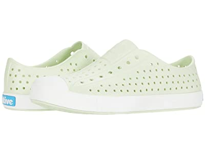 Native Kids Shoes Jefferson (Little Kid/Big Kid) (Cucumber Green/Shell White) Girls Shoes