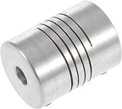 plataforma de m/áquina SENRISE etc plateado Acoplamientos flexibles de eje D19L25 5 unidades de acoplamiento flexible de aleaci/ón de aluminio para motor Connect Servo motor paso a paso