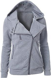 Women Hoodies Coat, Ladies Solid Long Sleeve Zipper Jacket Coat Casual Pocket Outwear