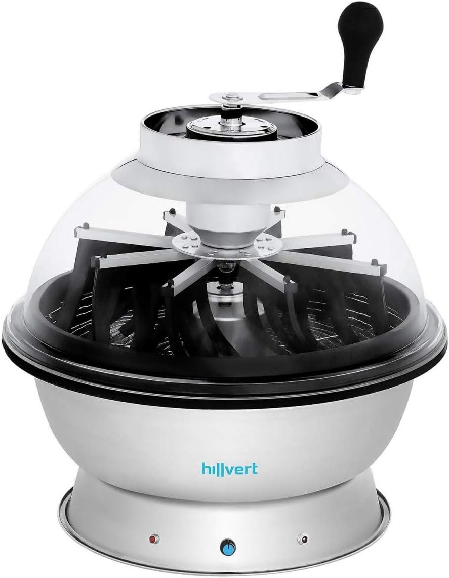 Hilvert HT-HOWSON-16TE Tazón Cortador de Brotes y Plantas manual/electrico (Acero Inoxidable, Plástico, Goma, Ø 43,5 cm, 20 W, 2050 rpm)