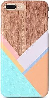 uCOLOR Case Compatible iPhone 8 Plus/7 Plus 6s Plus/6 Plus Cute Case Wood Chevron Pattern Soft TPU Silicone Shockproof Cover Compatible iPhone 8 Plus/7 Plus/6S Plus/6 Plus(5.5