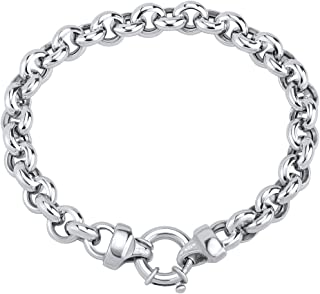 ZT1303175AVSW Womens 925 Sterling Silver Anklet with Pendant Heart SILVEGO