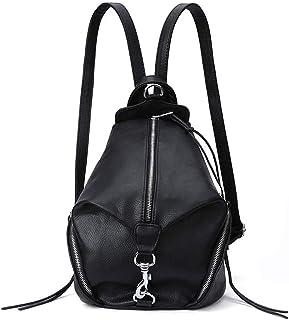 Xuan Yuan Backpack - Women's Wild College Wind Student Bag Leisure Travel Tassel Zipper Backpack Multi-Function Large Capacity Dual-use Backpack [Black] Backpack (Color : Black)