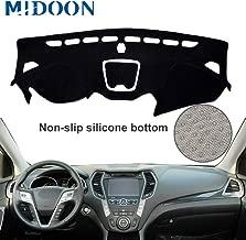 MIDOON for Hyundai Board Cover Pad Carpet Car Dashboard Cover Dash Mat Dash Pad DashMat (for Hyundai Santa Fe Santa Fe Sport IX45 Maxcruz 2013-2016 2017 2018)