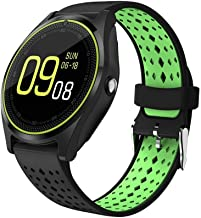 MAKECELL Smart Watch V9 Bluetooth Smartwatch Compatible with All Mobile Phones for Boys and Girls (Green) Gift for Your Lo...