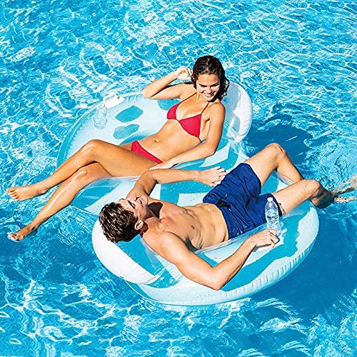 HSGAV Flotador de la Piscina Inflable Doble, Hamaca de Agua, Soporte de sofá de Agua Inflable, Piscina de Wimming Playa Flotador de Playa Playa para Adultos y niños