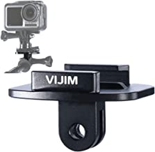 VIJIM Osmo Action Quick Release Tripod Mount, QR Buckle Base Mount with Universal Action Camera Interface Adapter Compatibale for DJI Osmo Action Gopro Hero 7 6 5 Vlog Accessory Kits