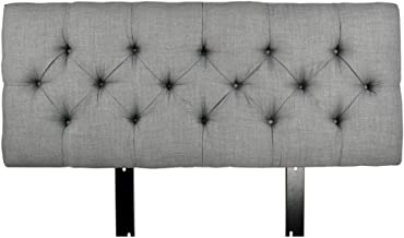 product image for MJL Furniture Designs Jackie Collection Padded and Diamond Tufted Upholstered Solid Wood Queen Size Headboard, HJM100 Series, Dark Gray