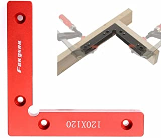Claurys コーナークランプ L型 アングル スコヤ 直角 大工 固定 金物 アルミ (赤1)