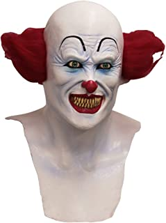 IT Scary Clown Mask White/Red