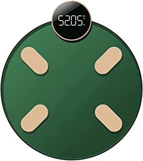 Báscula electrónica Báscula de Grasa Corporal Bluetooth Hogares precisos Tortuga pequeña Pesaje Inteligente Medición de Grasa Corporal pequeña Humana Máx. 150 kg