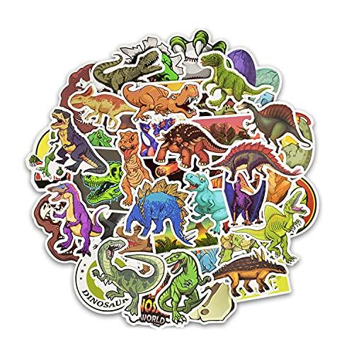 50pcs Dinosaur Wall Stickers Decalcomanie Decorazione fai da te Animale Scrapbook Rimovibile Camera da letto per bambini Nursery Festa di compleanno Valigia Skateboard