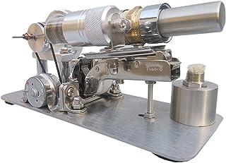DIY Model Engine Motor DIY Metal Single Cylinder Engine Model Power Generator Micro External Combustion Engine Stem Model
