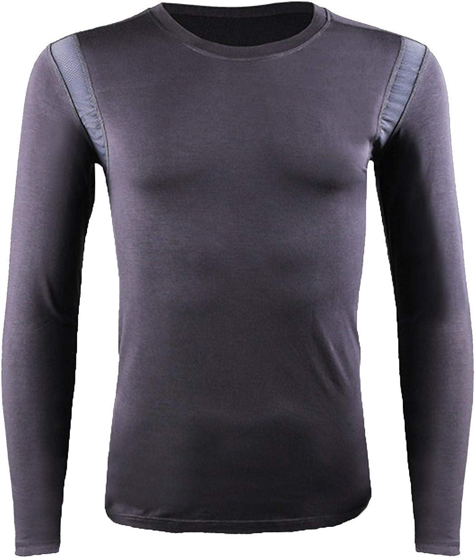 LOVESOO Mens Underwear Crewneck Long Sleeve Shirts Winter Warm Thermal Underwear Baselayer Tops