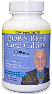 Bob's Best Coral Calcium 2000mg, 3 Pack of 90 Capsules New Improved Formulation!