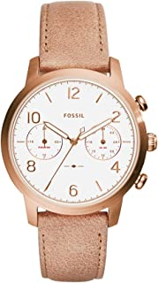 Fossil Women's ES4238 Caiden Multifunction Sand Leather Watch