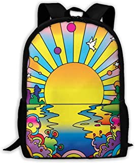 YnsuwBunse Cosmic Sun.jpg Travel Laptop Backpack,College School Backpack for Boys and Girls Water Resistant Student Backpack,Black