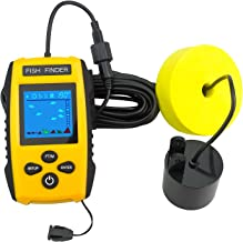 Venterior Handheld Fish Finder, Portable Fishfinder Fish Depth Finder with Sonar Sensor Transducer and LCD Display