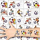 German Trendseller 36 x Fußball Kinder Tattoos - Set - Fußballer ┃ Kindergeburtstag ┃ Mitgebsel ┃ Fußball Party ┃ 36 Tattoos