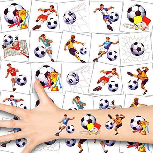 German Trendseller® 36 x Fußball Kinder Tattoos - Set - Fußballer ┃ Kindergeburtstag ┃ Mitgebsel ┃ Fußball Party ┃ 36 Tattoos