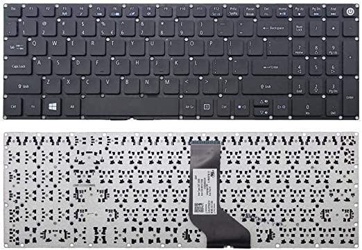 New Laptop Replacement Us Black Keyboard For Acer 0kn1 0t1ui12 Nk I1517 009 Nk I1513 031 Pk131nx1a00 No Frame Electronics Amazon Com