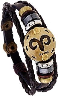 Vitalia Pulseras De Hombre Mujer Unisex Zodiaco Handmade Retro Leather PL0053