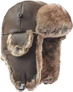 Janey&Rubbins Russian Hat Fur Soviet Ushanka Cossack Winter Cap Earflap Snow Ski Headwear
