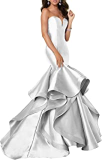Scarisee Women's Mermaid Prom Evening Dress Tiered Formal