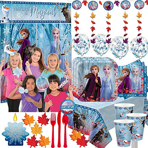Find Discount Mega Frozen 2 Birthday Party Supplies Pack For 16 With Frozen 2 Plates, Cups, Napkins,...