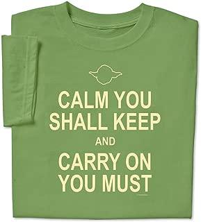 ComputerGear Funny Sayings T Shirt Keep Calm Yoda Geek Nerd Unisex Adult Tee