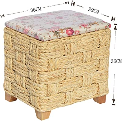 Strange Amazon Com Bamboo Square Storage Ottoman W Cushion In Pdpeps Interior Chair Design Pdpepsorg