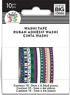 me & my BIG ideas WTSS-05 Mini Washi Tape, Jewel Tones