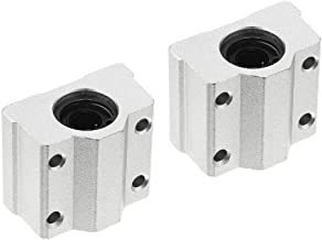 COMOK Silver Tone 10mm Inner Diameter Aluminium Alloy Linear Motion Ball Bearing Sliding Block 2PCS