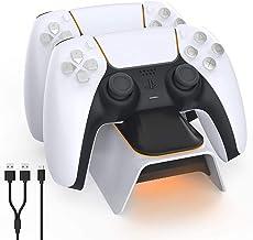 A base TwiHill é adequada para controlador PS5, estação base Playstation 5, para gamepad sem fio Sony DualSense PS5, branco