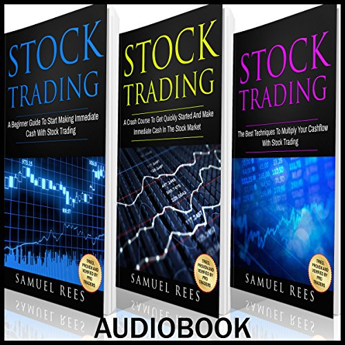 Stock Trading Ultimate Beginner Guide, 3 Manuscripts audiobook cover art
