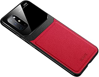 حافظة هاتف من الجلد الناعم لهواتف وان بلس 8T - لون أحمر
