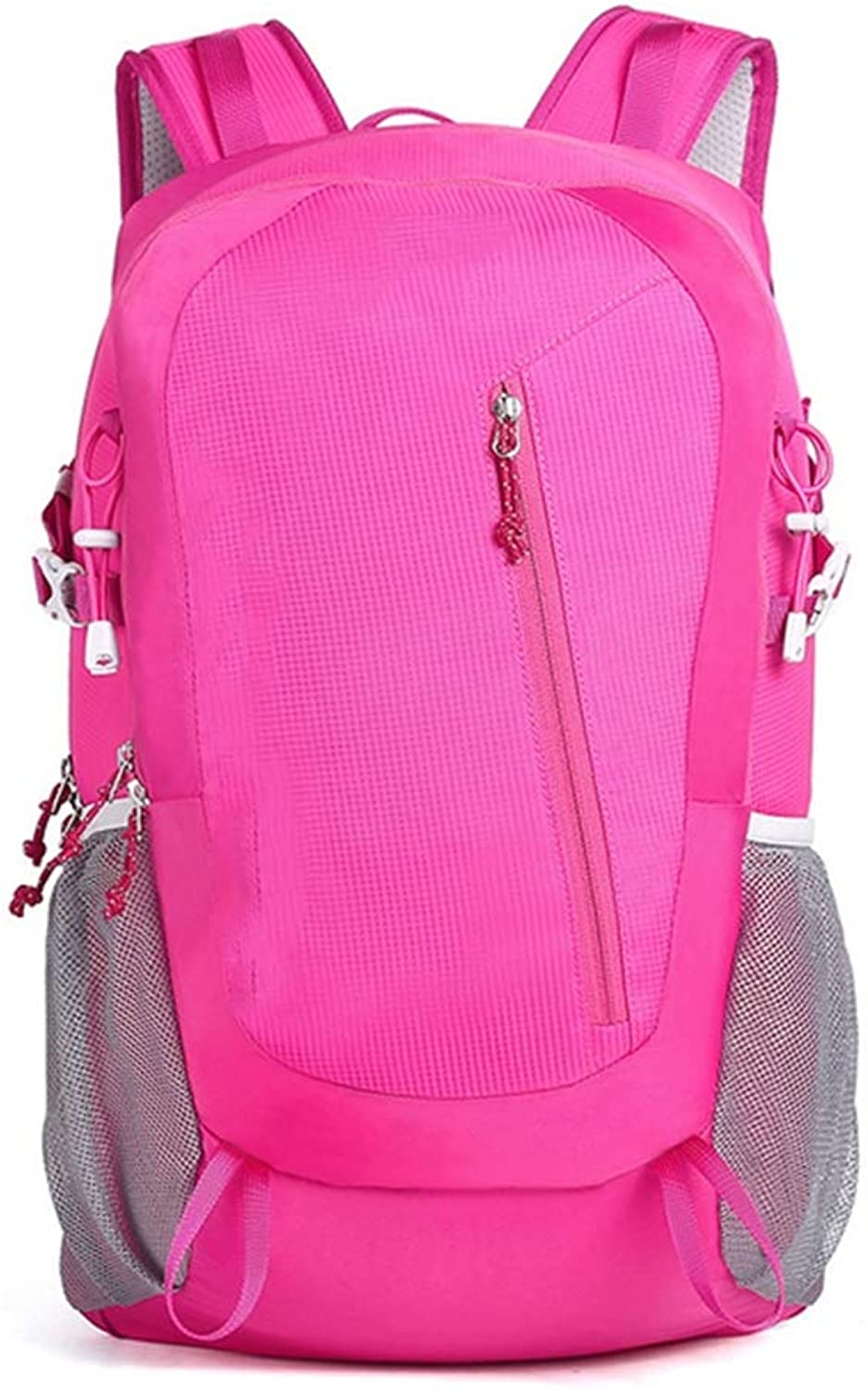 Outdoor Sports Climbing Mountaineering Camping Backpack, 30L + 5L Small and Medium Hiking Backpack (Pink)