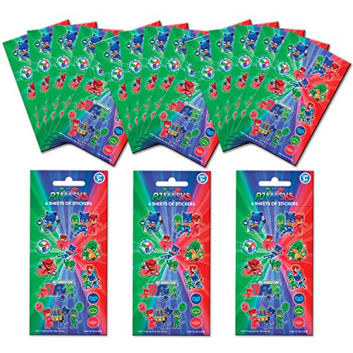 Paper Projects 01.70.24.052 PJ Maskers Party Sticker Bundel (18 Sheets)