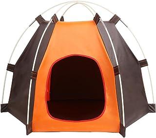 Yihome Hot Portable Folding Dog Pet House Bed Tent Waterproof Cat Indoor Outdoor Teepee