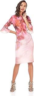 Little Mistress Bodycon Dress for Women - Pink 6 UK