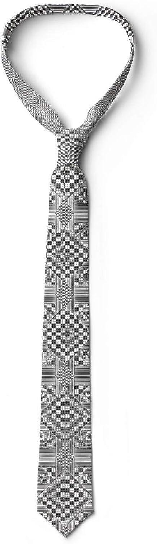 Ambesonne Necktie, Contemporary Stripe Motif, 3.7