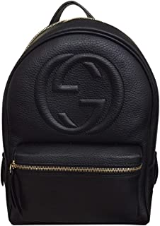 Soho Black Backpack Calf Leather Backpack Ladies Bag Italy New