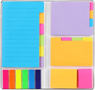Sticky Notes Set, Hommie Colored Divider Self-Stick Notes Pads Bundle, Prioritize with Color Coding, 60 Ruled (3.7x6), 48 ...