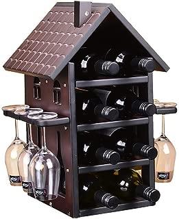 BXCGDICD Multi-Layer Wine Rack - Wooden Wine Rack - Household Decoration Wine Rack - Bar, Kitchen, Cabinet - 28X35X48CM (Color : Brown, Size : 28X35X48CM)