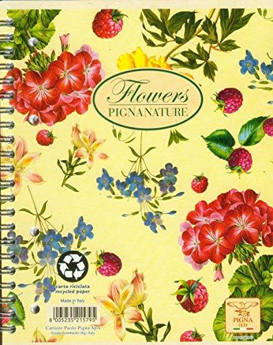 Kolobrulion A5 Pigna Nature Flowers w kratke 60 kartek mix wzorów