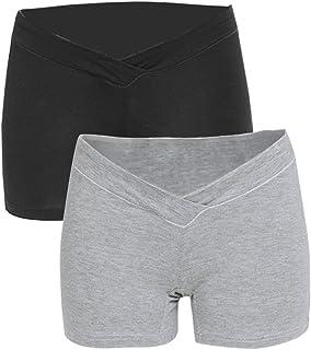 Maacie Maternity Mother Comfy Cotton Underwear Short Pants Briefs 2pcs/3pcs