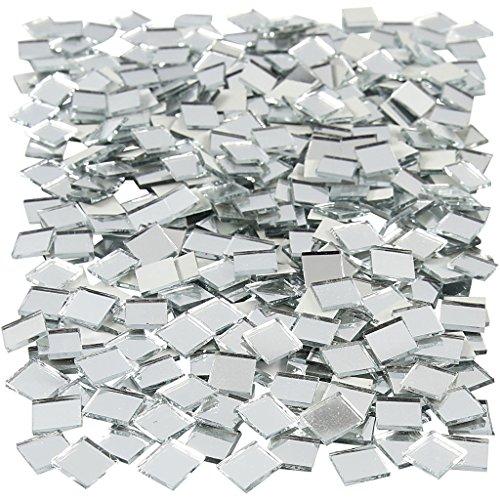 Spiegel Mozaïek Tegels, afmeting 10x10 mm, dikte 2 mm, Vierkant, 500st
